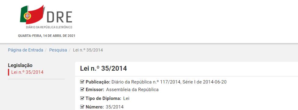 Lei n.º 35/2014
