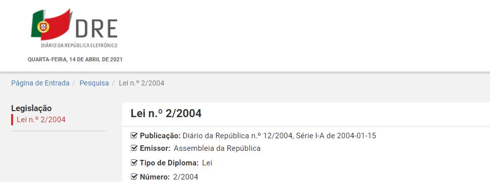 Lei n.º 2/2004
