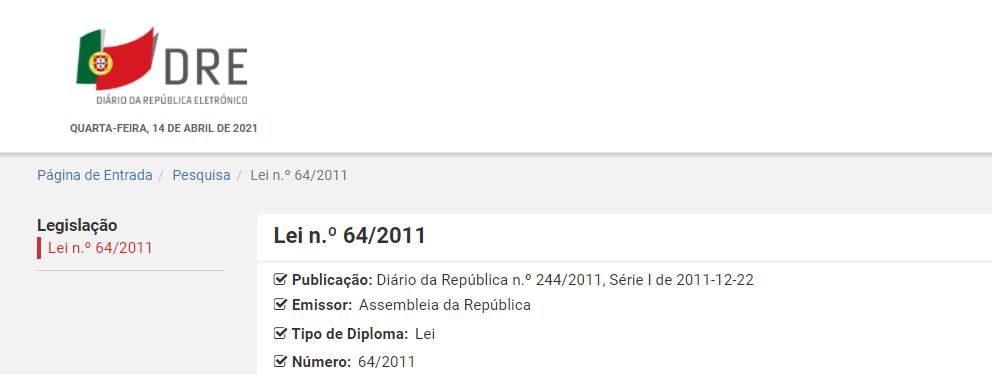 Lei n.º 64/2011